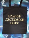"Handlenett / veske med teksten: ""Bag of awesome shit"" thumbnail"
