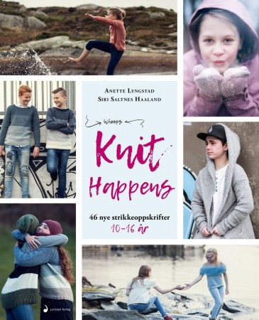 Knit Happens, strikkeoppskrifter for 10 - 16 år